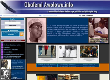 ork done on Chief Obafemi Awolowo