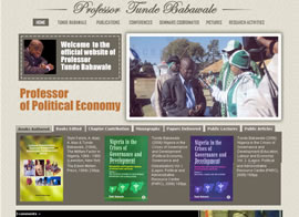 Official website of Prof. Tunde Babawale